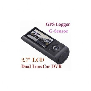 "Car Camera DVR Recorder - 2.7"" Dual Camera Security Car DVR GPS Vehicle Black Box Camcorder"