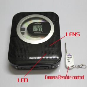 Clock Radio Camera CD + Radio Camera Hidden Bathroom Spy Camera 16GB 720P HD DVR