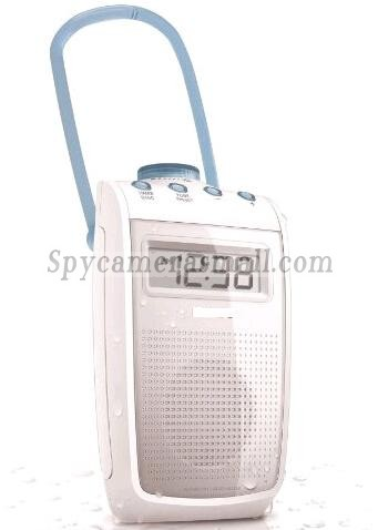 Splash Proof Radio HD Bathroom Spy Camera Motion Detection DVR 1280x720 16GB Remote Control ONOFF