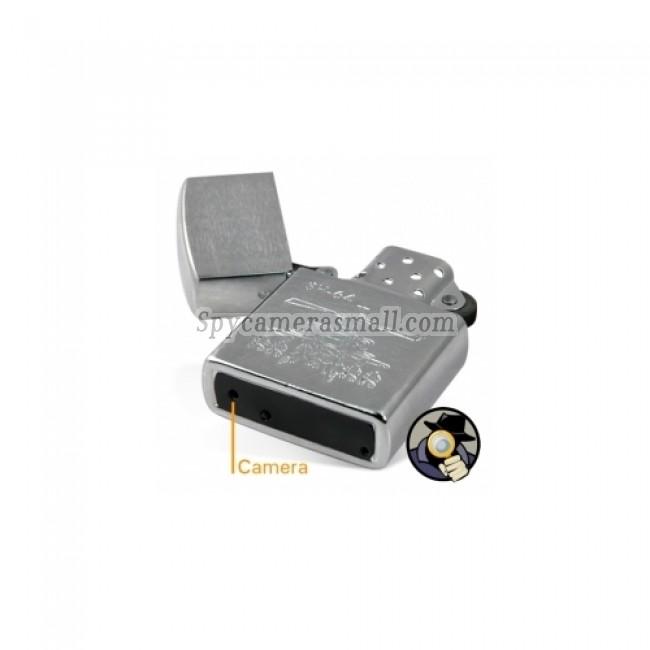Spy Lighter Camera DVR - 4GB HD Silver Spy Camera Lighter DVR