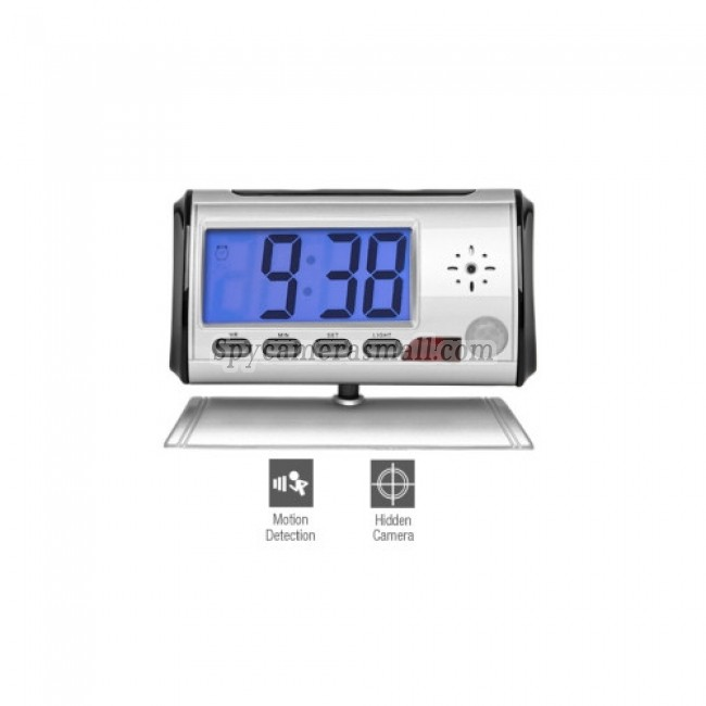 spy cameras - Hourglass 360 - Digital Spy Clock Camera with 1.8 Inch LCD Screen + Remote Control
