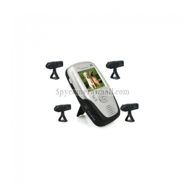 Baby spy camera - 2.4Ghz 2.5 Inch Four Channel MP4 Baby Monitor with 4x Rechargable Li-battery Camera