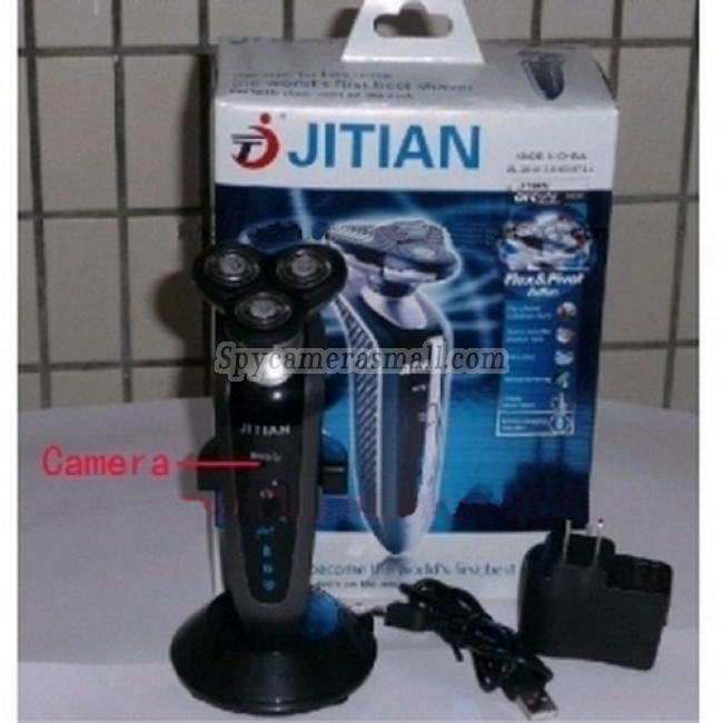 Shaver Spy Camera - Remote Control HD Bathroom Spy Camera Waterproof Spy Shaver Camera DVR 16GB 1280x720