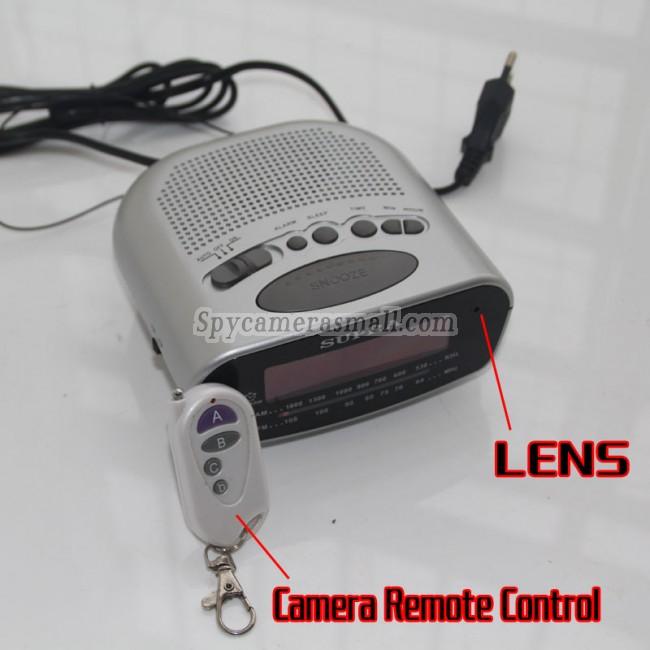 Hodiny rádio se špionážní kamerou HD 16G 1080P DVR s pohybovým čidlem nejlepší skrytá kamera