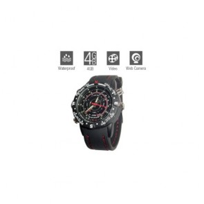 hidden Spy Watch Cameras - Hidden Waterproof Sports Watch with Web Camera (4GB)